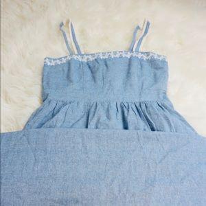 Long Blue Jean Maxi Dress